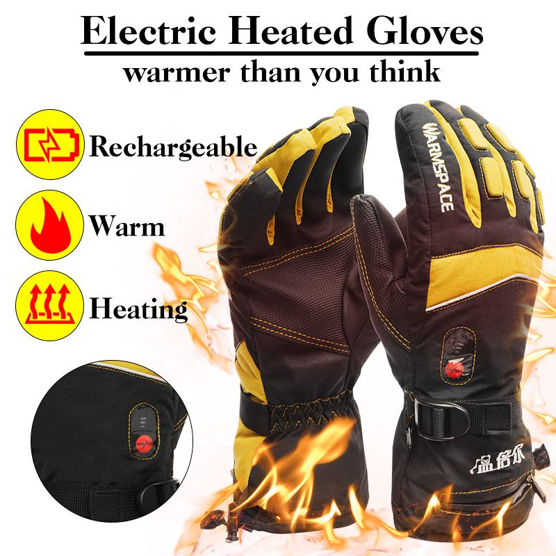 Waterproof Heated Gloves Battery Powered For Motorcycle Cycling Ski Gloves Winter Warmer Motor Gloves