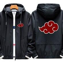 Аниме Наруто Косплей Костюм Куртка Учиха Итачи 3D печатных молния с капюшоном Толстовка Акацуки Наруто ветровка для косплея A9001