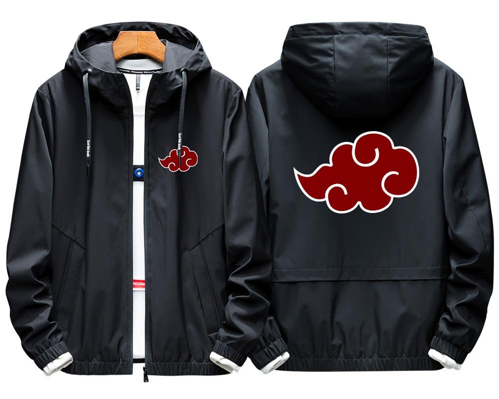 Anime Naruto Cosplay Costume Jacket Uchiha Itachi 3D Printed Zip Hooded Sweatshirt Akatsuki Naruto Cosplay Windbreaker A9001