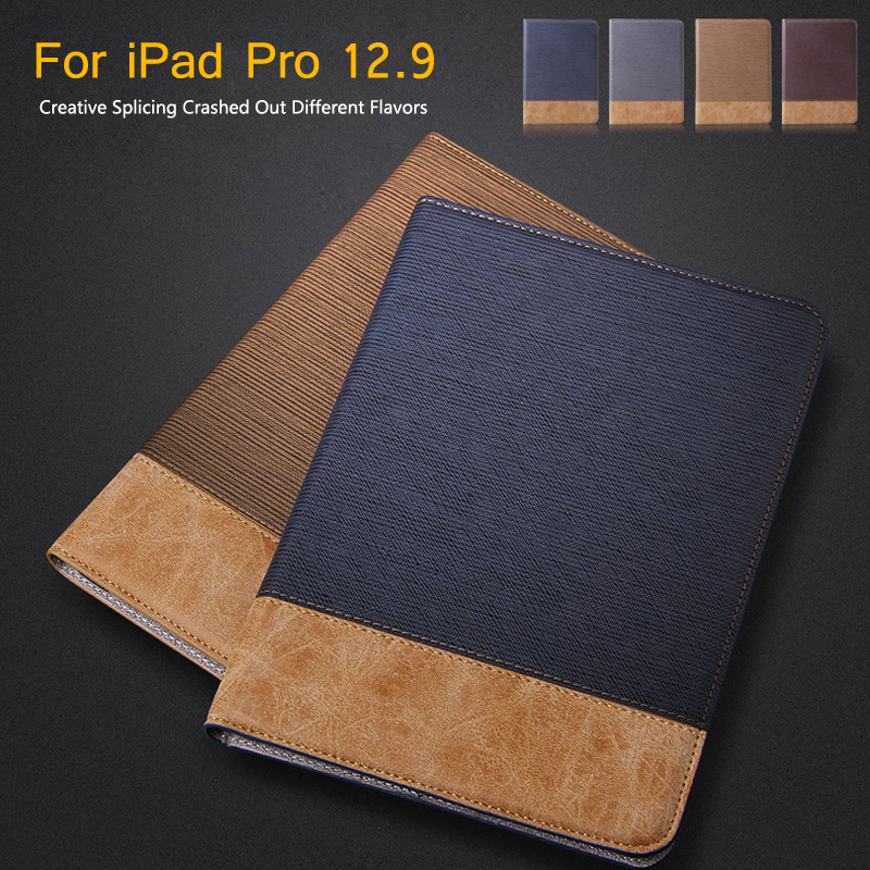 """For iPad Pro Case 12.9""""/9.7"""" Auto Sleep/Wake Up Magnetic Smart Stand Flip Leather Case For iPad Pro Hand Hold Tablet Case Cover"""