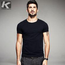 07580c1f290 Verão Mens T Camisas de Algodão Preto Branco Cinza Cor do Homem Casual Tops  Da Marca de Manga Curta T-shirt Masculina Plus Size .