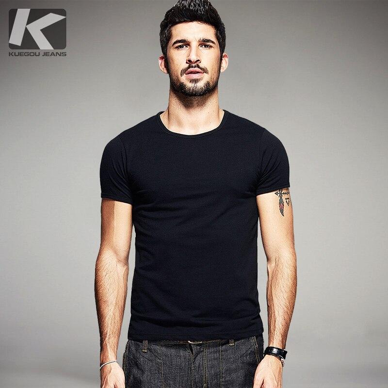 Comprar Verão Mens T Camisas De Algodão Preto Branco Cinza Cor Do ... 13cf43540b9