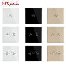 Switches EU Standard Luxury White Black Gold Crystal Glass 1 2 3 Gang 1 Way Switch Wall Touch Switch AC 220-250V 5A Light Switch cnskou 2 gang 1 way switch eu uk standard switch wall touch switch luxury white black gold grey crystal glass ac 110 220v