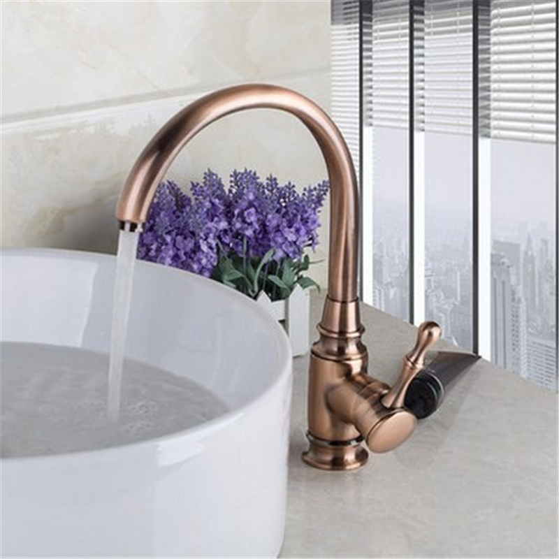 Xueqin Antique Solid Brass Kitchen Bathroom Basin Faucet Sink Vessel Single Handle Faucet Deck Mounted Mixer Tap Cold And Hot antique ceramic brass hot and cold water kitchen faucet mixer tap single handle deck mounted dathroom basin vessel sink faucet