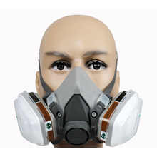 7 in 1 Set 3M 6200 Dust Painting Spraying Mask Respiratory Protection Half Face Mask Gas Respirator With Filter Safety Work 3m 6200 respirator half face gas mask painted activated carbon mask against organic vapor gas cartridges 7 items for 1 set