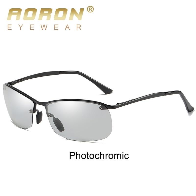 9dbe8739b044 AORON 2019 Neue Photochrome Sonnenbrille Männer Fahren Polarisierte ...