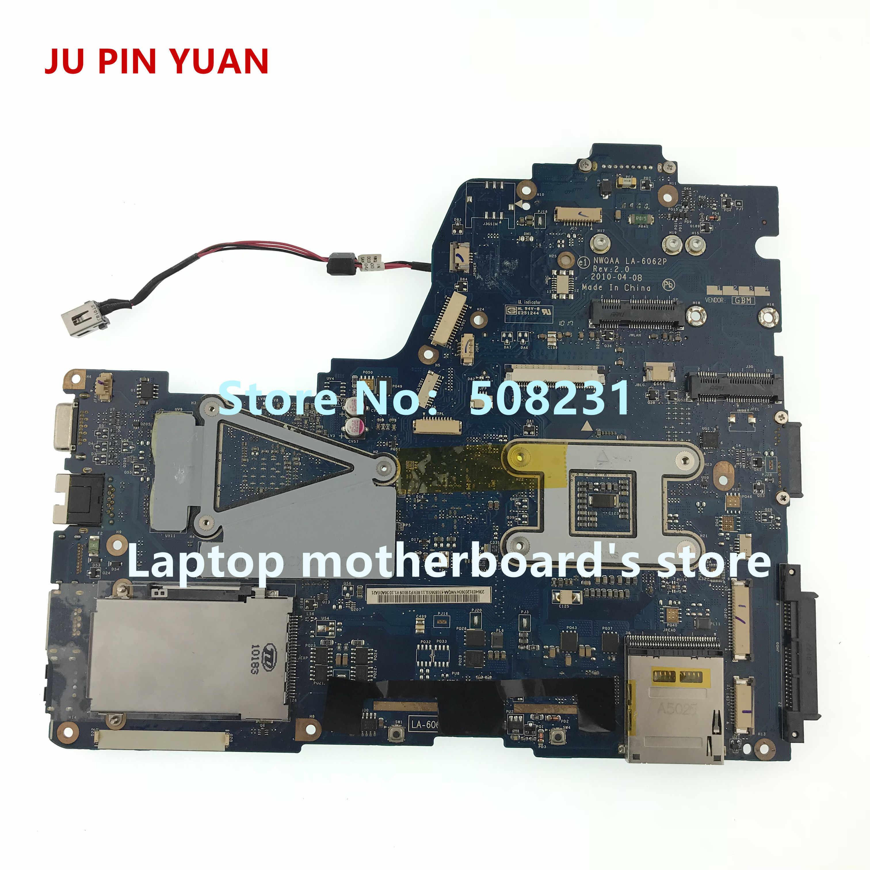 JU PIN юаней для Toshiba Satellite A660 A665 Тетрадь серийная материнская плата для ноутбука K000104390 LA-6062P полностью протестирована