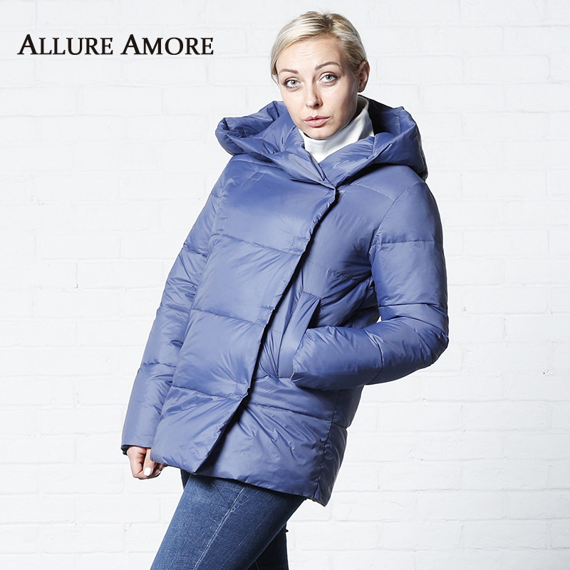 Women's   Parka   Female Winter Hooded Jacket Women Winter Jackets Woman Big Hat Collar Simple Coat New Winter Coats AllureAmore2019