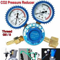 Argon CO2 Pressure Reducer Mig Tig Flow Control Gas Regulator Dual Gauge Welding