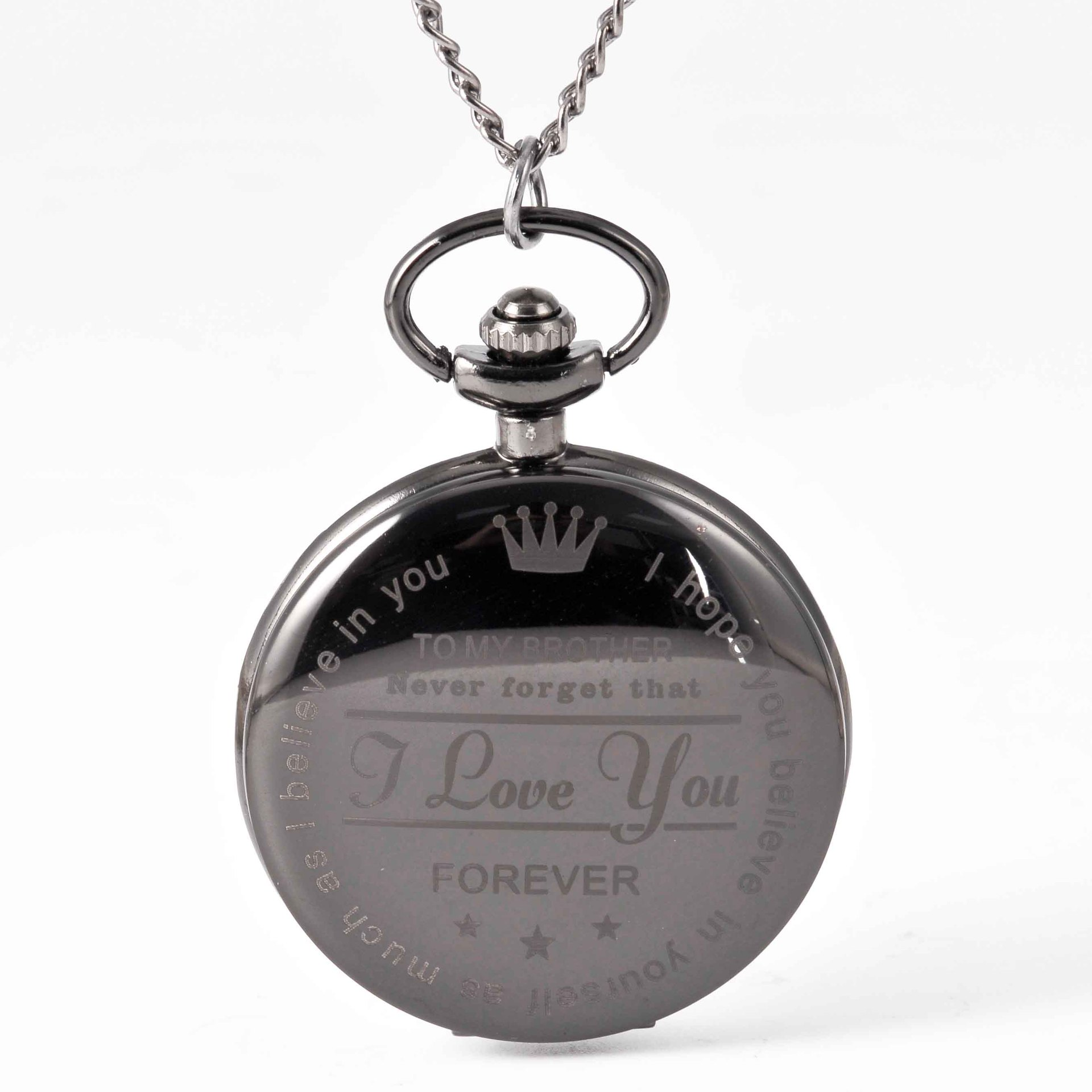 Pocket & Fob Watches  To My Brother  Pocket Watch Necklace I Love You Forever Quartz Watch  for  Brother's Gift Watch