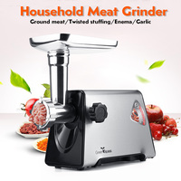 220V 300W 300r/min Commercial Stainless Steel Meat Grinder 3 Knifes 3 Tubes Butcher Kitchen Appliances Easy to Clean Durable