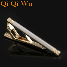 2017 New Tie Clips Mens Metal Necktie Bar Gold Plated Crystal Formal Dress Shirt Wedding Gifts for Mes Ceremony Clip