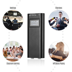 Image 5 - Mini Portable Digital Voice Recorder MP3 Player Audio Sound Dictaphone Recorder Voice Activated 8GB Recording Device for Meeting