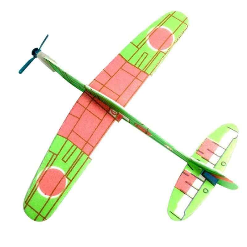 ใหม่ Hand Launch การขว้างปาเครื่องร่อน Aircraft Inertial Foam DIY เครื่องบินของเล่นเด็กเครื่องบินสนุกกลางแจ้งของเล่นสีสุ่ม