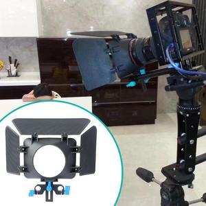 Image 2 - Abs Aluminium 85Mm 3 Blades Camera Matte Box Zonnekap Follow Focus Verstelbare Hoogte Voor 15Mm Slideway Dslr camera 200G