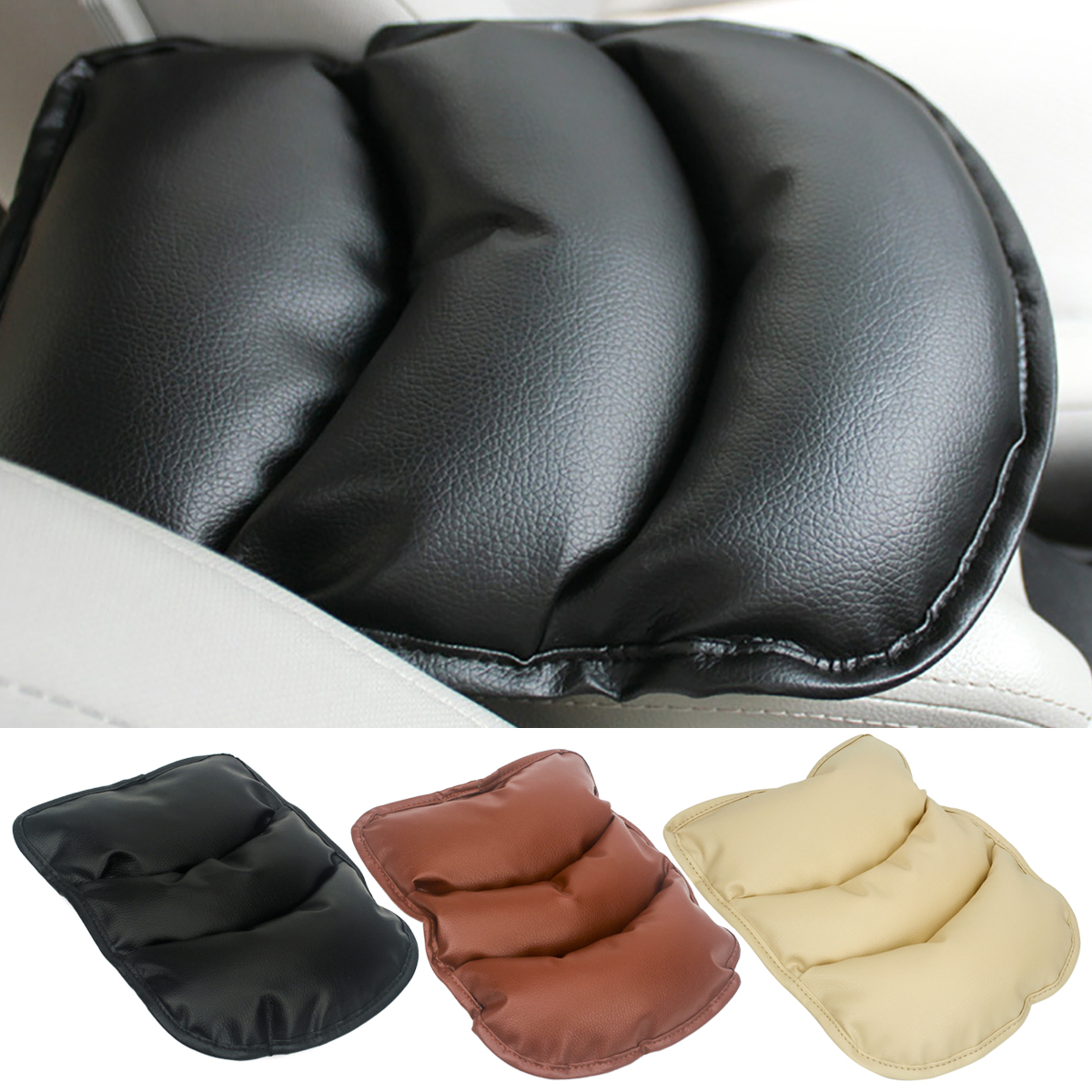Universal Car Seat Armrest Cover Pad Console Box Soft PU Leather Auto Center Arm Rest Seat Protective Pads Mat Case in Armrests from Automobiles Motorcycles