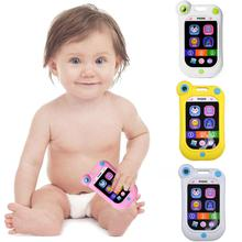 лучшая цена Animal Sounds Baby Toys Musical Smart Mobile Phone Early Children Educational Toys Electric Learning Toy for Baby Stop Crying