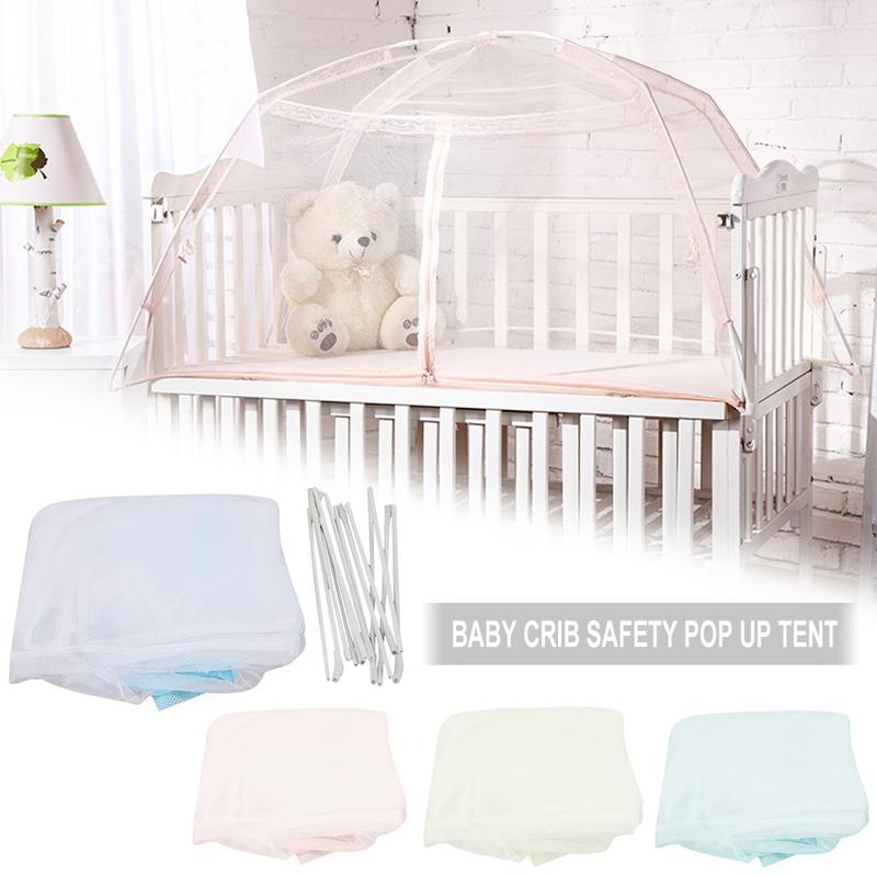Portable Baby Infants Insect Netting Mosquito Mesh Baby Cradle Canopy Bed Mosquito Nets Summer Baby Bed Crib Mosquito Tent