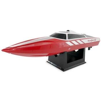 Vendas quentes À Prova D' Água Barco RC 28 km/h Brinquedo Verão Água 180 2 Em 1 9g Servo ESC Do Motor Escovado controle remoto RC Barcos Brinquedos Presentes