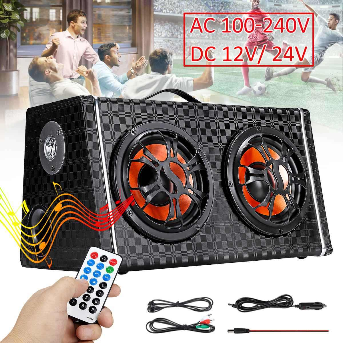 6 inch DC 12V/24V Wireless bluetooth Car Stereo Amplifier Subwoofer Speaker  AC 100-240V Home Audio FM Radio Player Speakers