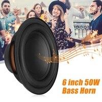 A Pair 50W 6 inch DIY Bass Horn Speaker Accessories Sound Box Loudspeaker Stereo Subwoofer Speaker Unit Strong Bass Horn Tweeter
