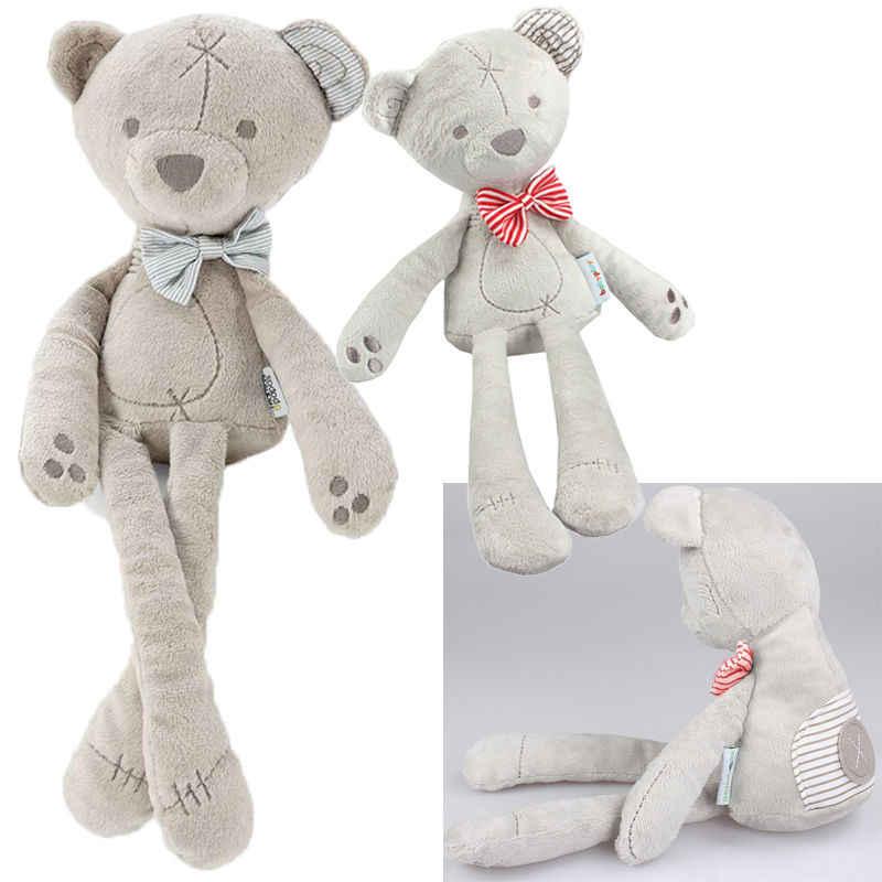 Bebé lindo juguete suave pies largos oso suave juguete Animal arco peluche oso niño regalo