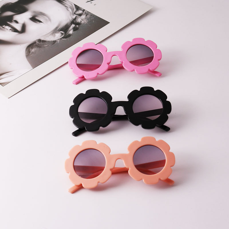 2020 NEW Sun Flower Round Cute Kids Sunglasses UV400 For Boy Girls Toddler Lovely Baby Sun Glasses Children Oculos De Sol N554