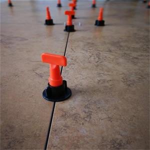 Image 2 - 타일 레벨러 50pcs 미니 재사용 가능한 T 형 바닥재 벽 타일 레벨러 레벨 로케이터 정렬 보조 핸드 툴 키트