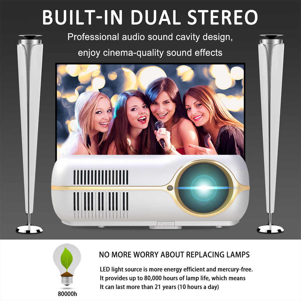 Домашний видеопроектор портативный театральный светодиодный проектор 4200 люмен 80000 часов лампы Поддержка жизни Full HD 1080 P видео игры