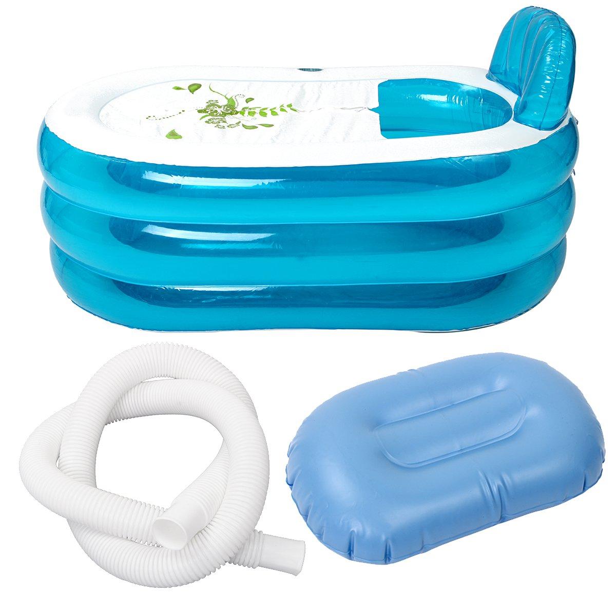140*75*70 cm baignoire gonflable maison Portable PVC baignoire Camping voyage adultes pliant SPA bain avec coussin tuyau outils ensemble