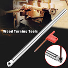 25cm R6 Round Wooden Turning Tool Chisel Alloy Carbide Tip Bit Lathe Tool Set with 1Pcs T15 Wrench