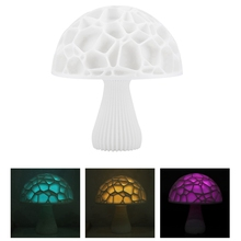 LED RGB Mushroom Shape Night Light Lamp Colorful Lovely Decoration Night Light With USB Chargeable For Gift