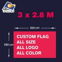 Custom 3m x 2.8m Advertising Customize LGBT Hand Flag Free HD Design Digital Printing 100D Polyester All Styles and Logos