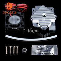 DFORCE titan extruder aero 3DPrinter parts Radiator aluminum block 1.75mm/3mm Extruder Upgrade Kit 12V fan and 24V fan