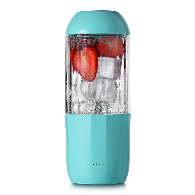 380 ml Portátil Copo Espremedor Liquidificador Suco USB Multi-função de Misturador de Frutas Seis Lâmina de Mistura Smoothies Máquina de Comida Para Bebé dropshipping