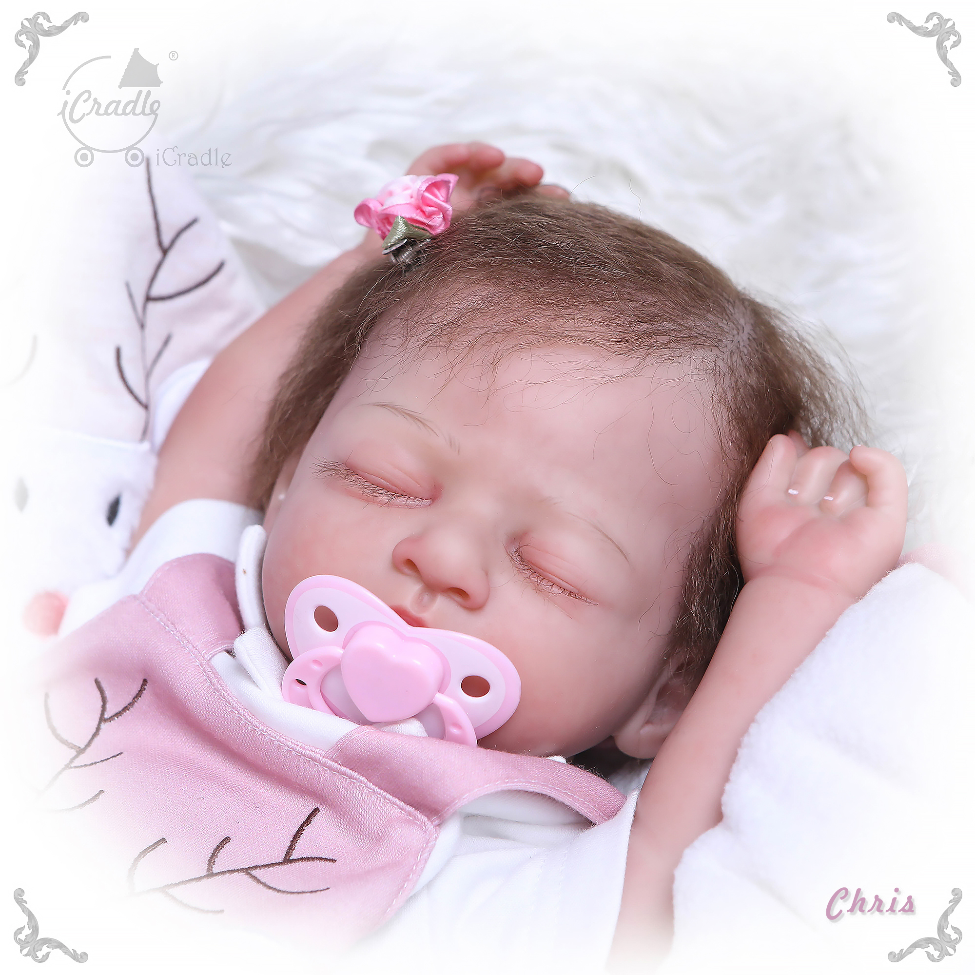 high quality lifelike bebe doll reborn baby handmade newborn babies detailed paint by Genesis heat set