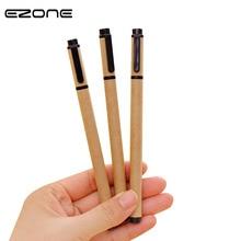 EZONE 3PCS/Set Gel Pen Set Eco Friendly Kraft Paper Creative 0.5mm Neutral Pens School Office Stationery Supply