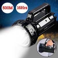 Rechargeable Hand Flashlight Torch Portable COB LED Work Light Inspection Lamp Spotlight Car Repair Camping Tent lanterna