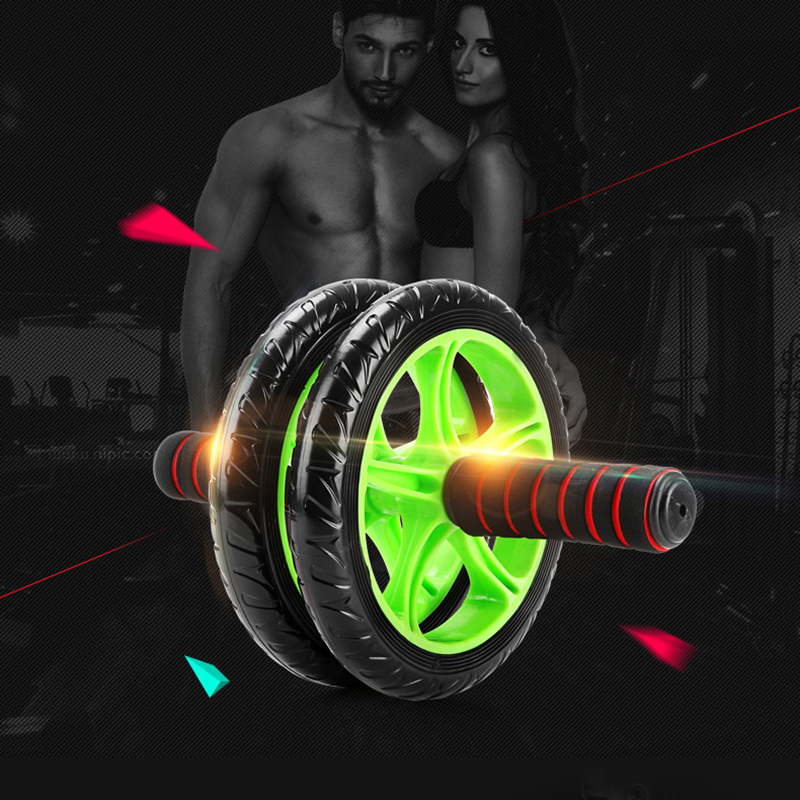 Abdominal Wheel Ab Roller Fitness Equipment Muscle Exercise GYM Equipment Trainer with Mat Keep Fit Wheels Ab Wheel Women Man 30 image