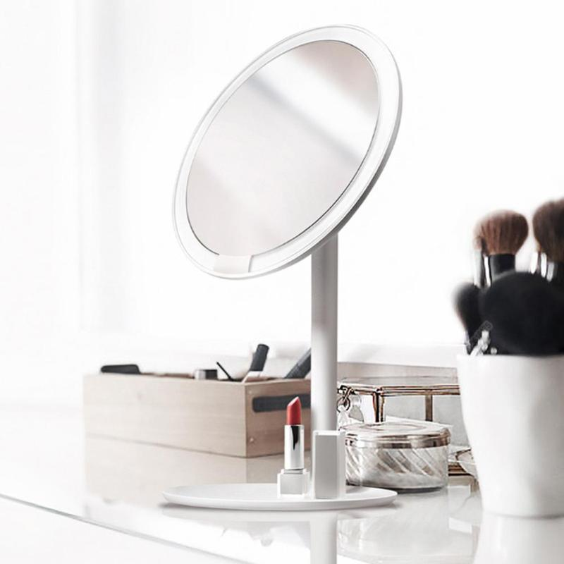 Xiaomi AMIRO AML004 espejo de maquillaje recargable ajustable de brillo LED HD maquillaje luz espejo Mijia espejo de maquillaje cosméticos-in Espejos de maquillaje from Belleza y salud    1