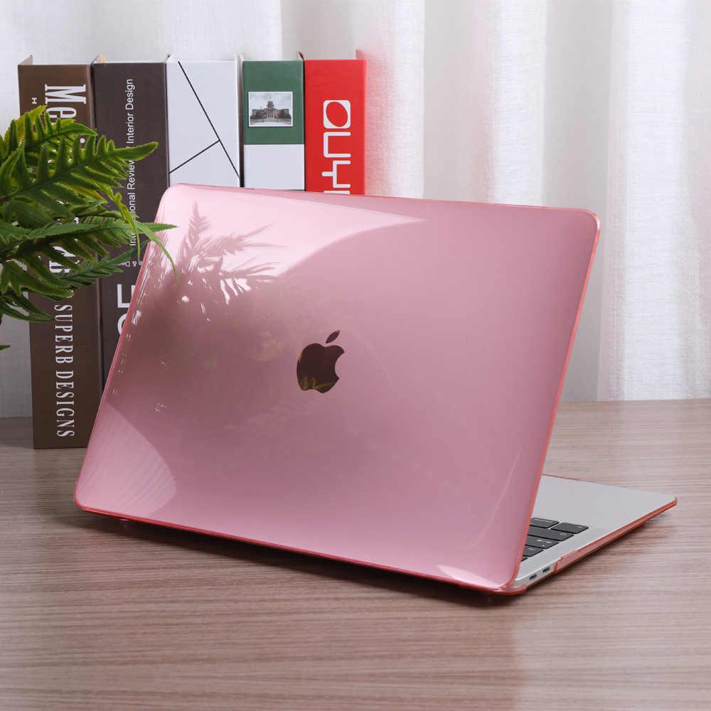 Cristal Transparent étui rigide coque couverture pour MacBook Air Retina Pro 13 15 16 pouces barre tactile A2141 A2159 2019 Air 13 A1932 couverture