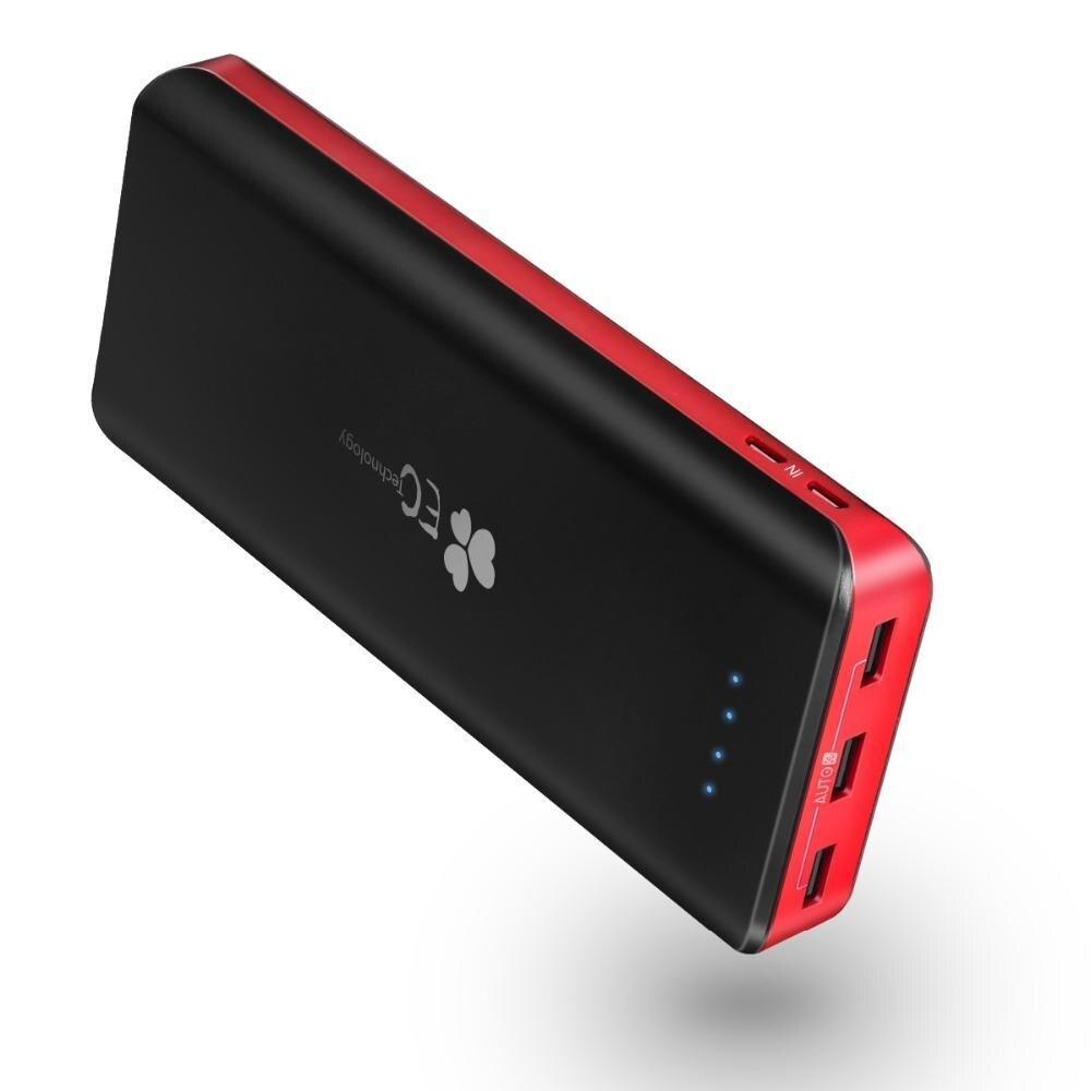 Technologie EC 26800 mah Power Bank Double Entrée Rapide Chargeur 3 Sorties USB Portable Powerbank Carregador Portatil Para Celular