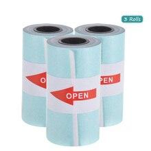3 рулонов печать наклеек Бумага рулон термобумага с самоклеющейся 57*30 мм специальные внутренние подкладки для peripage A6 карман Бумага, которые только начинают P1/P2