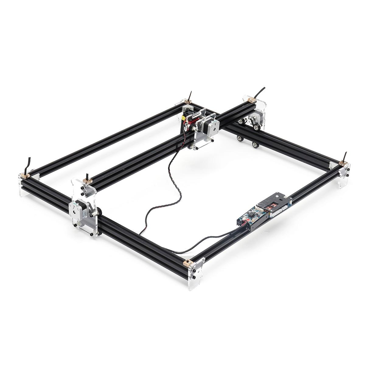 12V Mini 5500mW 65*55cm bleu CNC Machine de gravure Laser 2 axes bricolage maison graveur bureau bois routeur/Cutter/imprimante Machine-outil - 4