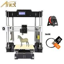 Anet A8 3D Printer Kits Sla Insuatrial 3D Printer DIY Impressora 3D Reprap i3 with Auto Leveling+SD Card+10m/roll Filament+Tools big size 220 220 240mm high quality auto leveling precision reprap prusa i3 3d printer diy kit with 1 roll filament 8gb sd card