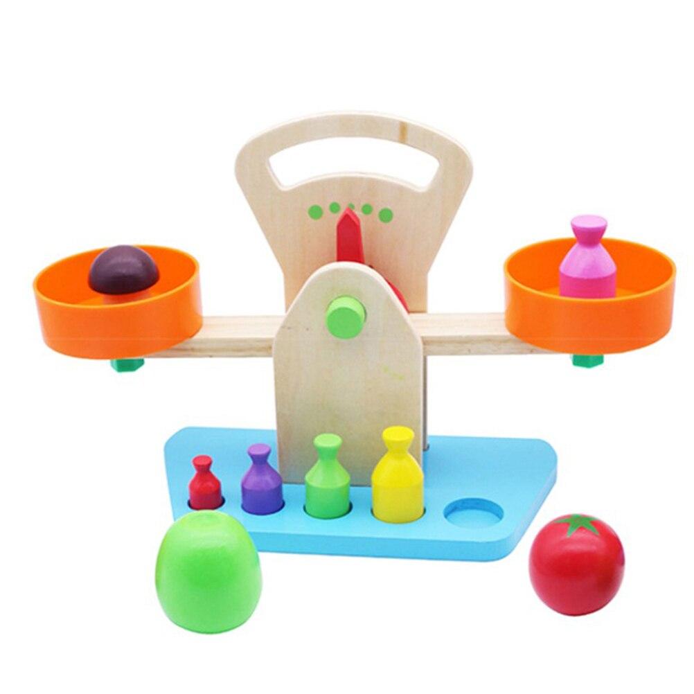 1 PC Balance Balance jouet belle apprentissage en bois formation éducative maternelle jouet Balance Balance pour les tout-petits bébés enfants