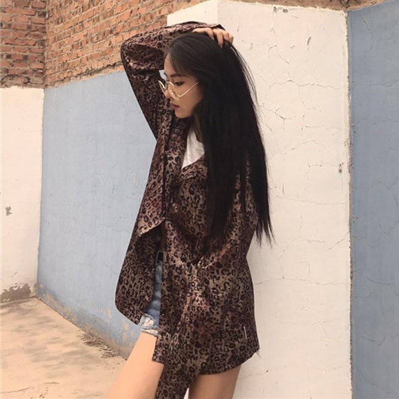 Solapa Camisas Sueltas Larga Otoño Moda Nuevo Y Brown De Primavera Hospital Blusas Coreano Las Leopardo Tops 2019 Manga Vgh Vintage Mujeres x0ABZ