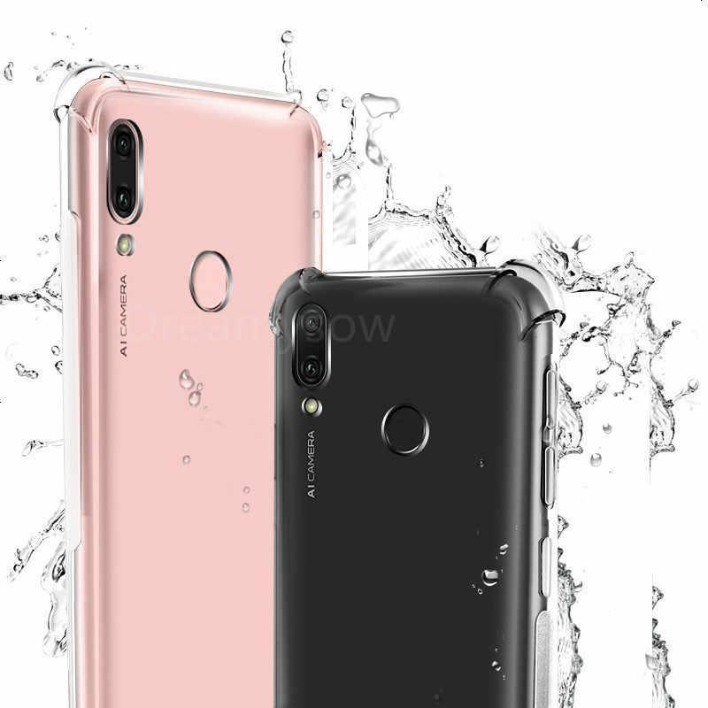 TPU mềm Túi Khí Chống kích Trường Hợp Cho Huawei P Thông Minh Y7 Pro 2019 Nova 4E 4 Danh Dự 7A 7C 5.7 5.99 8X 8C 8A Lưng Ốp Lưng Trong Suốt