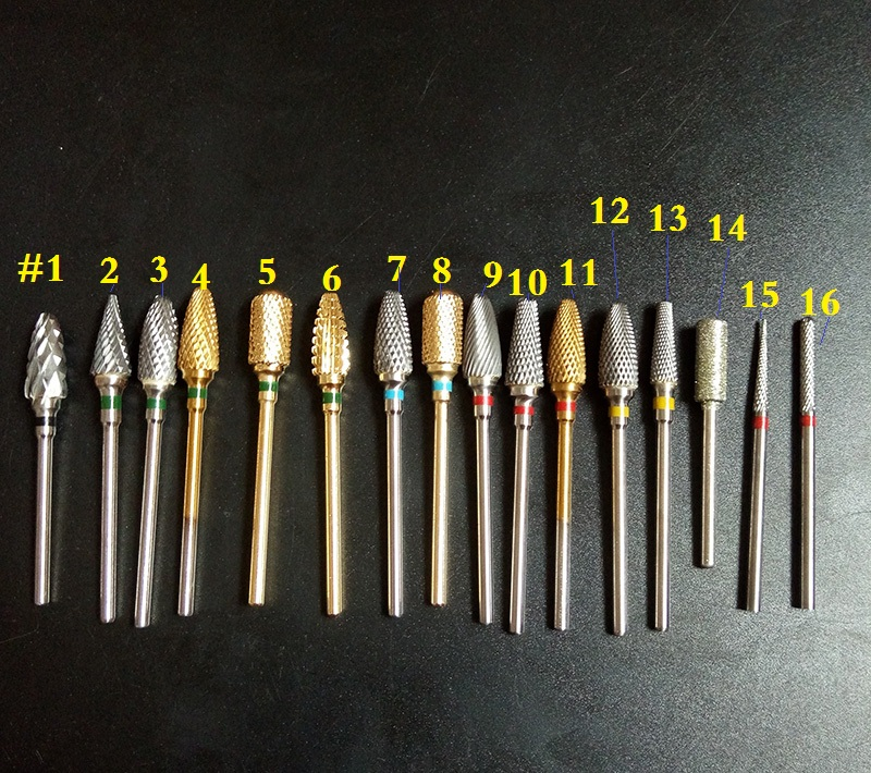 16kinds valitulle laadukkaalle uudelle tuotteelle Carbide Nail- ja Electric Dental Lab -leikkurit ElectricNail-porakone, ilmainen toimitus