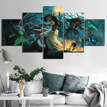 5 Piece HearthStone Heroes of Warcraft Strategy Card Game Canvas Wall Pictures Home Decor For Living Room Poster Wholesale